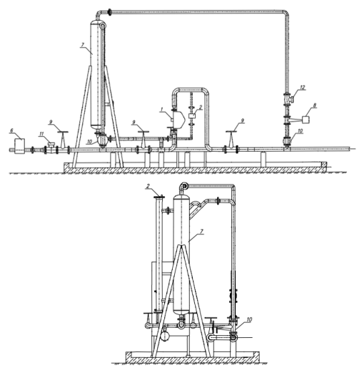 Блок учета количества нефти БУКН-схема