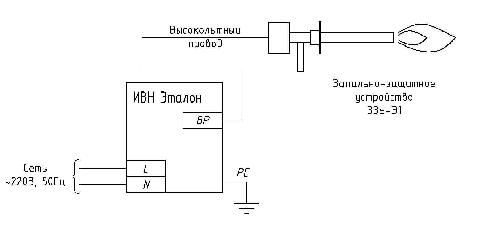 Схема подключения ИВН.